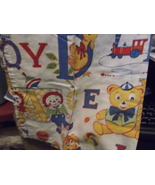 "Raggedy Ann & Andy Alphabet 36"" Cafe Curtain and Valance-Vintage - $10.00"