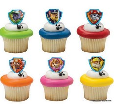 Paw Patrol Dogs CupCake Cake Topper 12 18 24 Favor Decoration Birthday F... - $7.87+