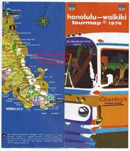 Vintage Map Tour Travel Map 1976 Honolulu-Waikiki Tourmap no 61 - $24.99