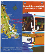 Vintage Map Tour Travel Map 1976 Honolulu-Waikiki Tourmap no 61 - $24.99