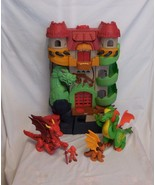 Fisher Price Imaginext dragon world castle fortress + 3 Dragons + Figure... - $46.42