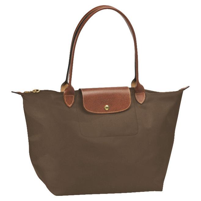 Longchamp Bag Le Pliage Size : Longchamp le pliage nylon tote taupe brown shoulder bag