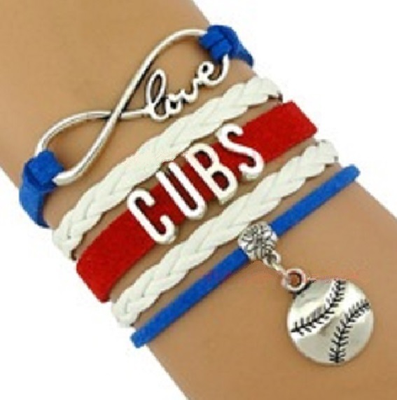 Chicago Cubs Baseball Fan Shop Infinity Bracelet Jewelry 2016 WORLD SERIES