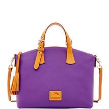 Dooney & Bourke Patterson Violet Leather Large ... - $469.99