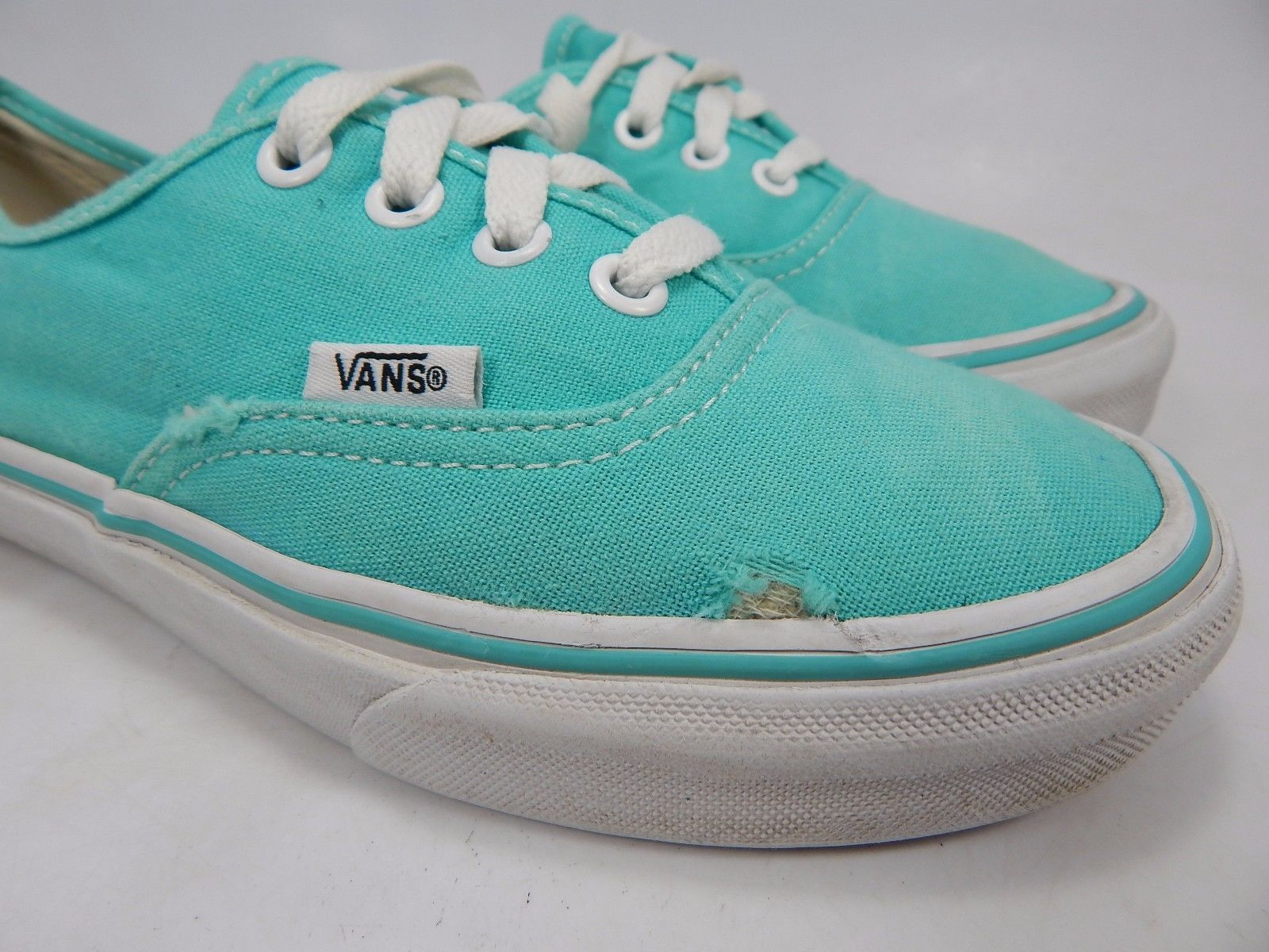 Vans Off The Wall Women's Canvas Casual Skate Shoes Size US 6 EU 36 Aqua T375