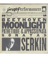 Great Performances: Moonlight Sonatas [Vinyl] Beethoven and Rudolf Serkin - $25.00