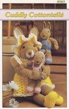 Cuddly Cottontails, Annie's Crochet Pattern 87G17 Mother Bunny Doll & Ba... - $5.95