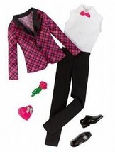 Barbie Fashion Clothing For Ken - Black & Pink Plaid Tux Jacket - $10.00