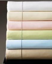Sferra Marcus Green Twin Sheet Set 3 PC Solid 100% Cotton Sateen 400 TC NEW - $130.00