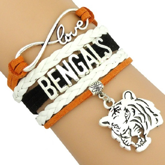 Cincinnati Bengals Football Fan Shop Infinity Bracelet Jewelry