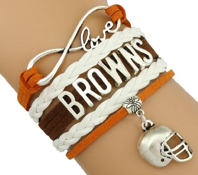 Cleveland Browns Football Fan Shop Infinity Bracelet Jewelry
