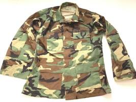 U.S. Army Military Woodland Hot weather Coat Jacket  size Large Long  - $6.48