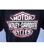 Harley-Davidson Black T-Shirt 2XL Mauston WI Wisconsin Dells Cotton - $25.00