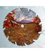 Order 4 Saw Blade Mountain Cabin Fall Scene Cus... - $43.00