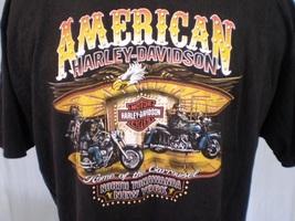 Harley-Davidson Black T-Shirt 2XL North Tonawanda NY Cotton - $25.00