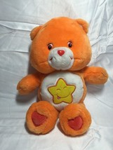 Care Bears Plush Laugh A Lot Bear Orange Yellow Star Tummy 2003 14 Inch - $12.99