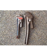 """Vintage Set Of 2 Pipe Wrenches,1,Craftsman 10"""",1,Fuller 8"""" AWESOME COLLE... - $28.04"""
