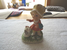 """Vintage Homco Little Girl Petting Her Dog Figure """" Awesome Collectable """" - $8.59"""