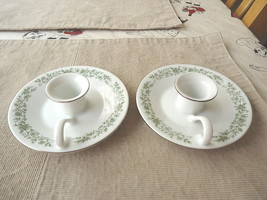 "Vintage Set Of 2 Mikasa Fine China Ceramic Candle Holder Saucers "" RARE BEAUTYS - $12.19"