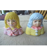 "Vintage Pair Of 1986 Enesco Figurines ,1,Patches,1,Flower Belle "" BEAUTIFUL SET"" - $6.79"