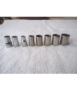 """Vintage Mixed Lot Of 7 Craftsman And 1 Westline 1/4"""" Sockets """" AWESOME L... - $13.09"""