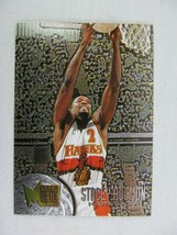 Stacey Augmon Atlanta Hawks 1996 Fleer Basketball Card Number 121 Metal - $0.98