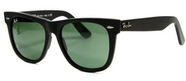 Ray Ban 2140 901S Matte Black Wayfarer Sunglasses 54mm Gray Lenses New G... - $98.95