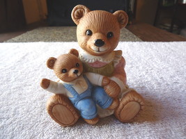 """Vintage Homco #1444 Mother Bear Holding Baby Boy Cub """" Awesome Collectable Piece - $9.49"""