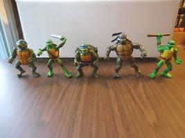 Mixed Lot Of 5 Teenage Mutant Ninja Turtle Figures,1,1991,1,2002,Others ... - $14.95