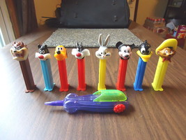 """Mixed Lot Of 9 Looney Tunes / Disney Pez Dispensers """" GREAT COLLECTIBLE ... - $14.01"""