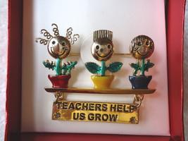 "Vintage Danecraft "" NOS "" IOB "" Teachers Help Us Grow "" Brooch / Pin "" BEAUTIFUL - $18.69"