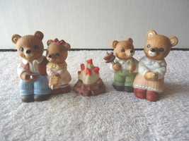 "Vintage Homco Set Of 3 # 1446 "" Camping Bears "" Beautiful Collectible Displayabl - $17.75"
