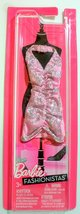 Barbie Fashionistas Prom Halter Dress Pink and Silver - $10.00