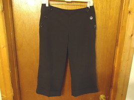 "Womens Larry Levine Petite Stretch Size 8 P Black Capri Pants "" BEAUTIFU... - $14.01"