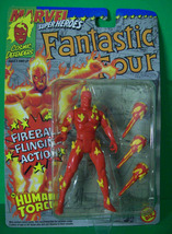 Human Torch with Fireball Flinging Action  Fantastic Four 1992 A1 - $12.00