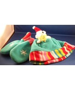 New Hat Set Pocket in Hat for Christmas Bear Plush Mittens Gift 2-4 years - $15.79