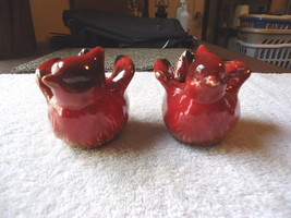"Vintage ? Cardinal Bird Shaped Tea Light Candle Holders Set "" BEAUTIFUL ... - $15.88"