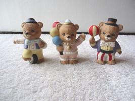 """Vintage Homco # 1449 Set Of 3 """" Circus Bears """" Beautiful Collectible Displayable - $12.19"""