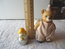 Lot Of 3 Collectible Figurines,1,Homco Circus Bear,1,Bear Holding Baby,1... - $12.19