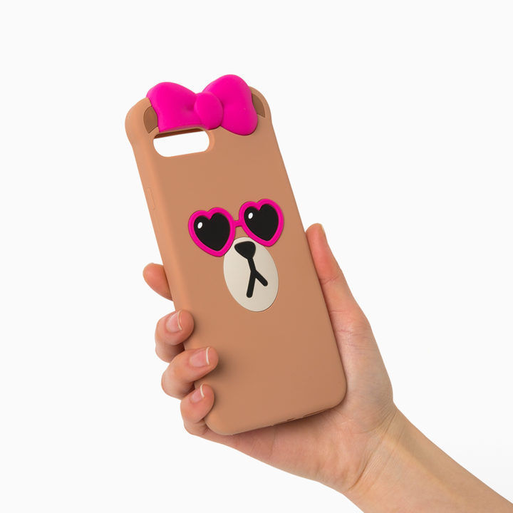 LINE Friends CHOCO Pink Sunglass iPhone Silicone Case 7/7Plus Phone Cover Mobile