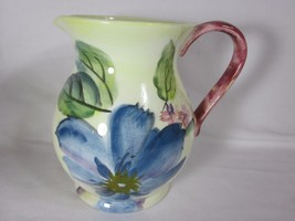 Pfaltzgraff Flower Market Water Pitcher 2 1/2 Quart Vivid Colorful Flowers  - $29.69
