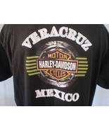 Harley-Davidson Black T-Shirt XXL Veracruz Mexico Cotton - $25.00
