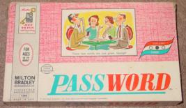 PASSWORD GAME VOL 3 #4260 VINTAGE 1963 MILTON BRADLEY COMPLETE  - $15.00