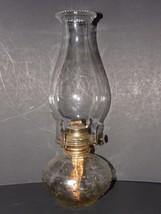 VINTAGE 1960's CLEAR GLASS  HOBNAIL DESIGN OIL/KEROSENE LAMP WITH CLEAR ... - $28.04