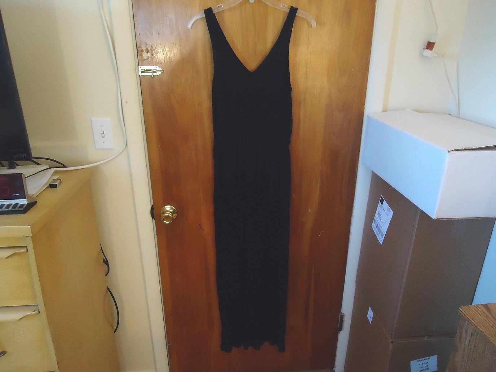 "Womens / Girls Old Navy Size S/ P/ P Full Length Black Sleeveless Dress "" BEAUTI"