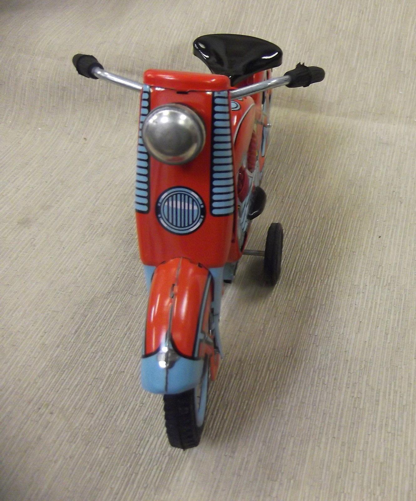 Harley Davidson Toys : Xonex s harley davidson red motorcycle tin toy
