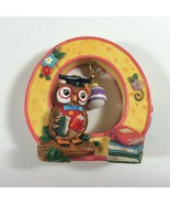 "1999 Mary Engelbreit Alphabet Resin Letter O for Owl 2 1/2"" Figurine - $9.89"