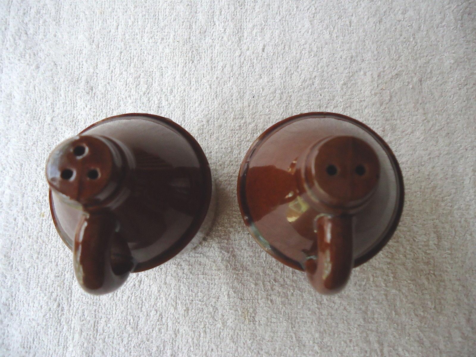 Vintage Little Brown Jug Salt And Pepper Shaker Set