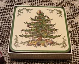 Vintage Spode CHRISTMAS TREE Acrylic Finish COASTERS // Holiday Decor - $14.00