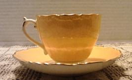 Vintage COALPORT Bone China YELLOW Tea Cup With Saucer Set ENGLAND - €13,71 EUR
